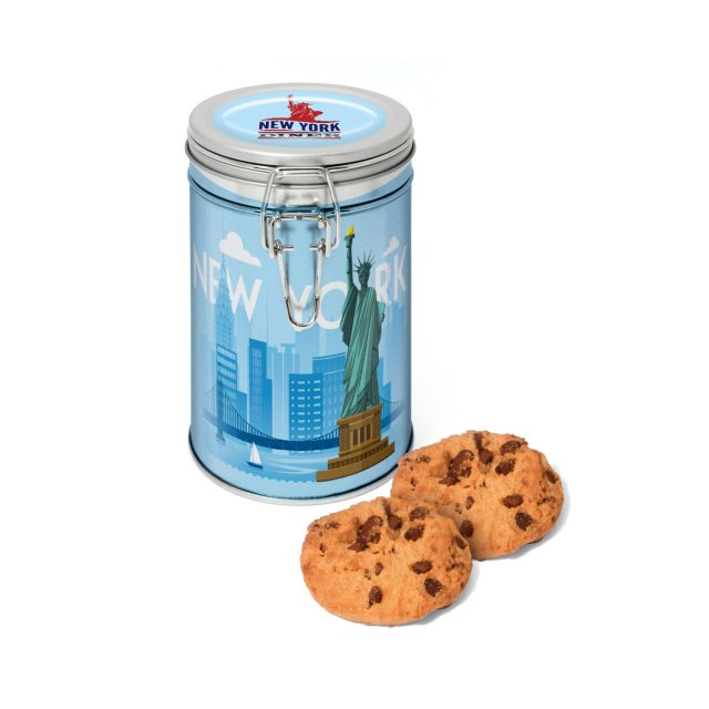 Flip Top Tin – Silver – Maryland Cookies