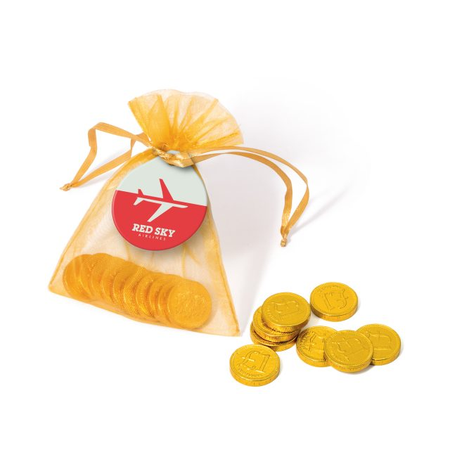 Organza Bag – Chocolate Coins