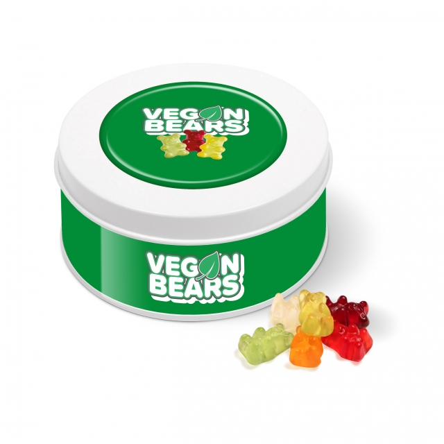 Treat Tin – White – Kalfany Vegan Bears