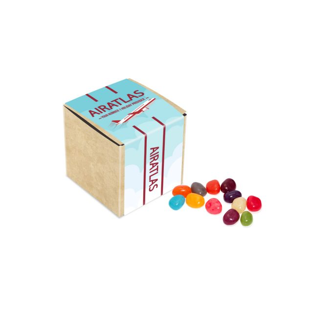 Eco Range – Eco Kraft Cube – The Jelly Bean Factory® – 50g