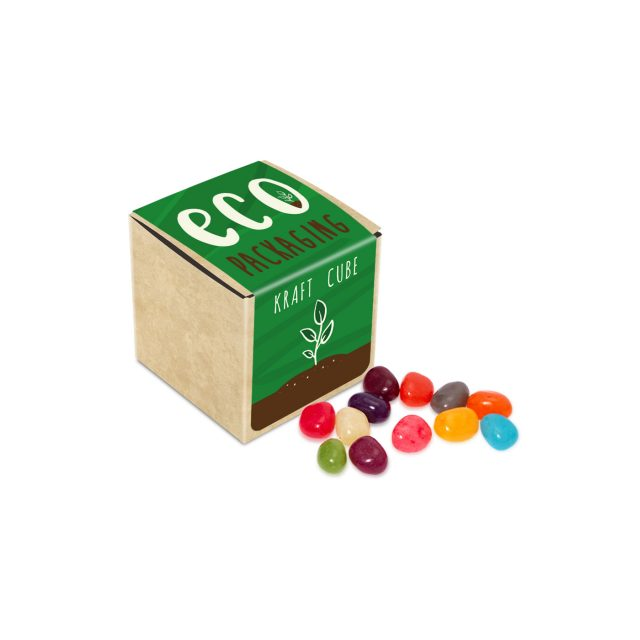 Eco Range – Eco Kraft Cube – Jelly Bean Factory® – 50g