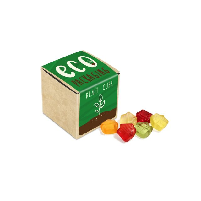 Eco Range – Eco Kraft Cube – Kalfany Fruit Gums – 40g