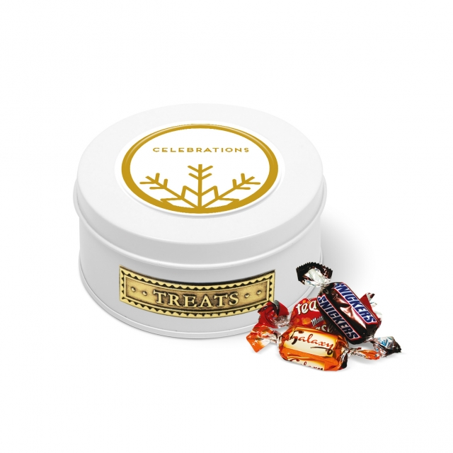 Treat Tin – White – Celebrations