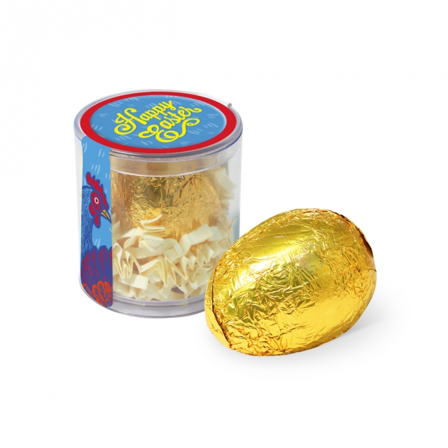 Easter – Clear Pot – Gold foiled egg