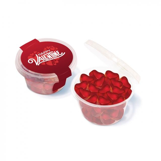 Valentines – Eco Maxi Pot – Kalfany Fruit Gum Hearts