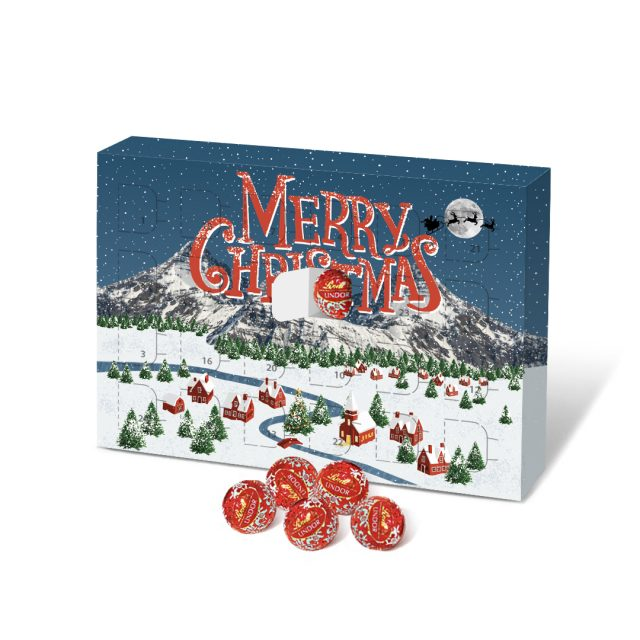 Eco Advent – A5 Calendar – Lindor Chocolate Balls
