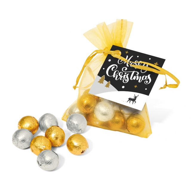 Winter Collection 2020 – Organza Bag – Foiled Chocolate Balls