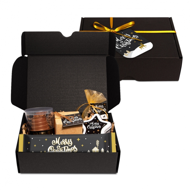 Gift Boxes – Midi Black Gift Box – Festive Edition