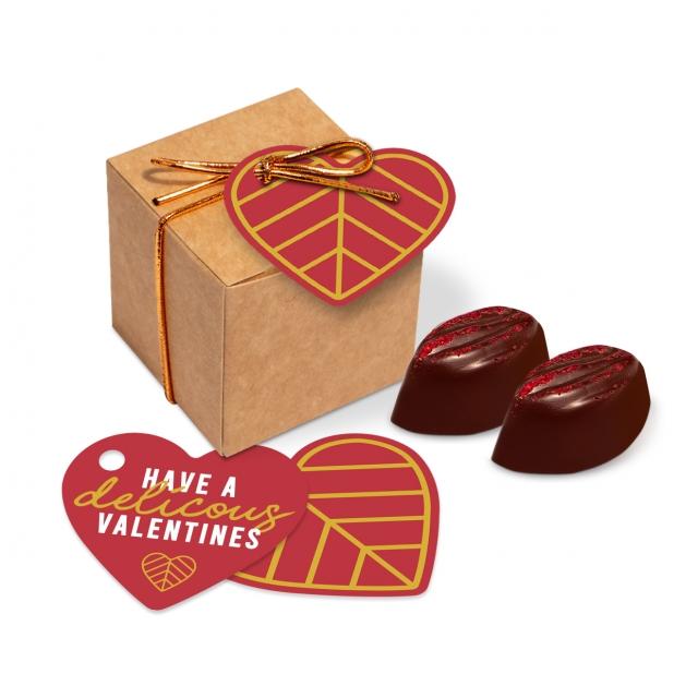Valentines – Eco Kraft Cube – Cocoa Bean Truffles