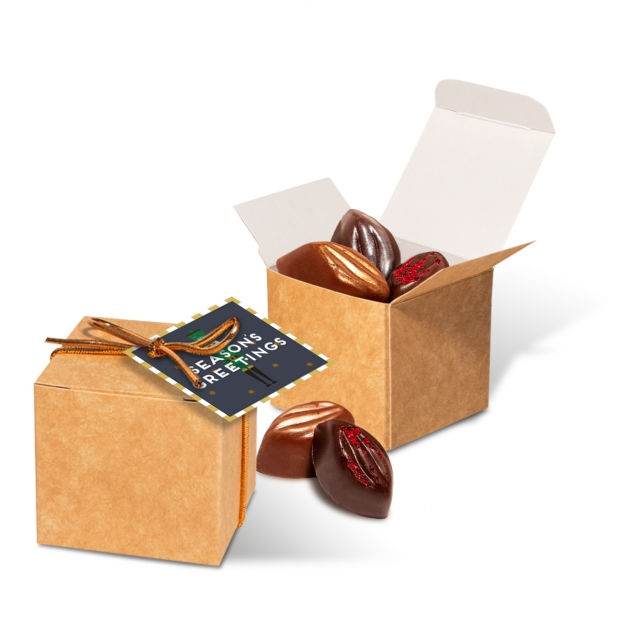 Winter Collection – Eco Kraft Cube – Cocoa Bean Truffles