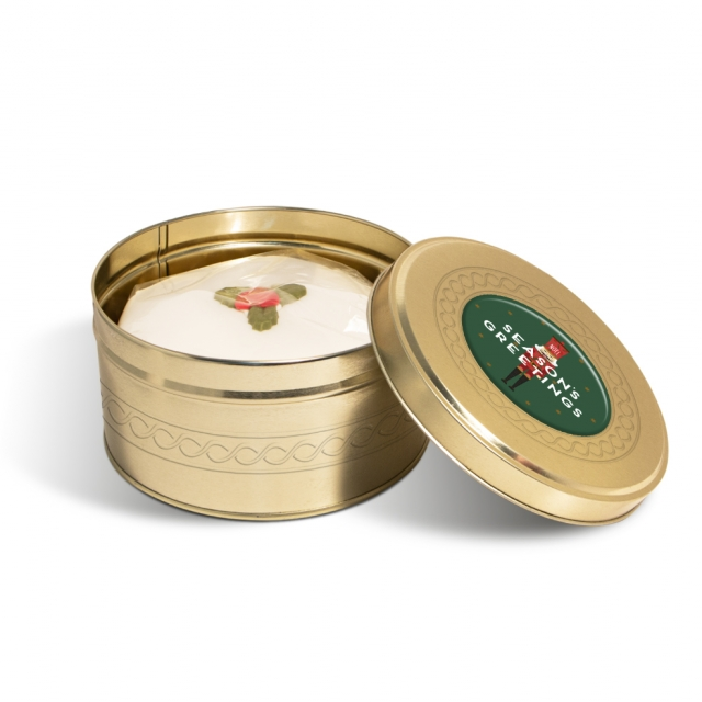 Winter Collection – Gold Treat Tin – Christmas Cake